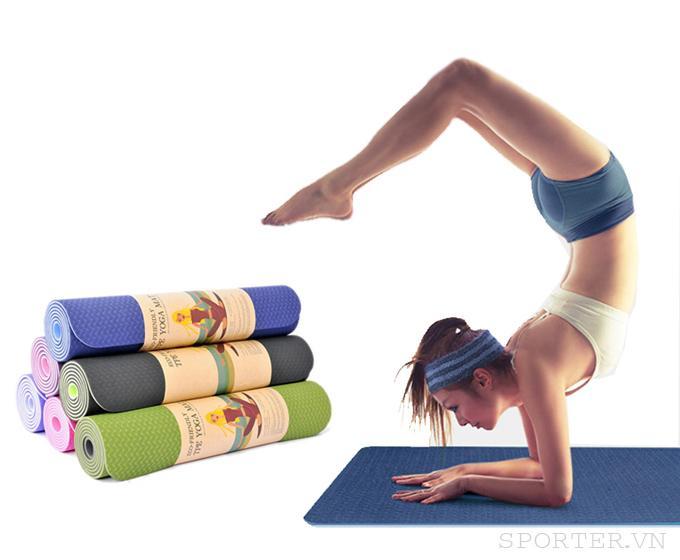 Hình ảnh Thảm tập Yoga & Gym siêu bền, dày 5mm