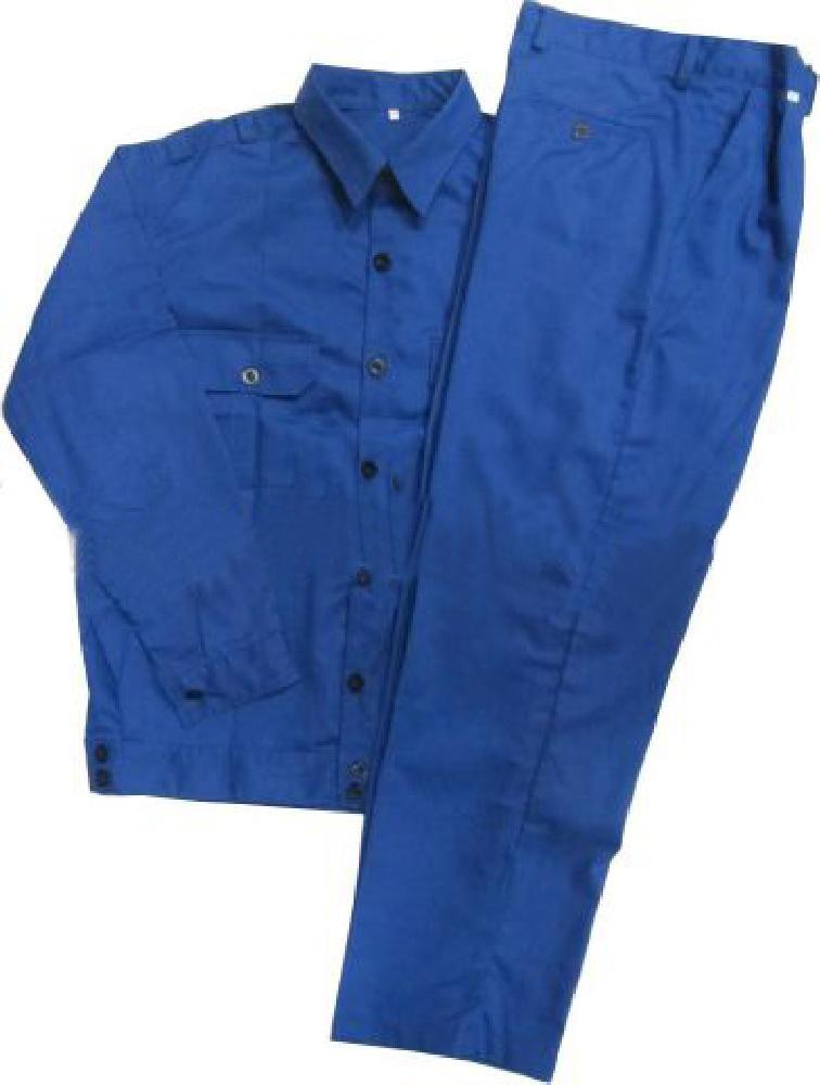 Bộ áo và quần bảo hộ lao động vải kaki xanh công nhân size L