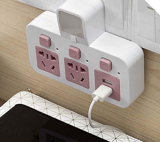Hình ảnh Ổ cắm điện kèm USB sạc điện thoại và đèn ngủ SLT2