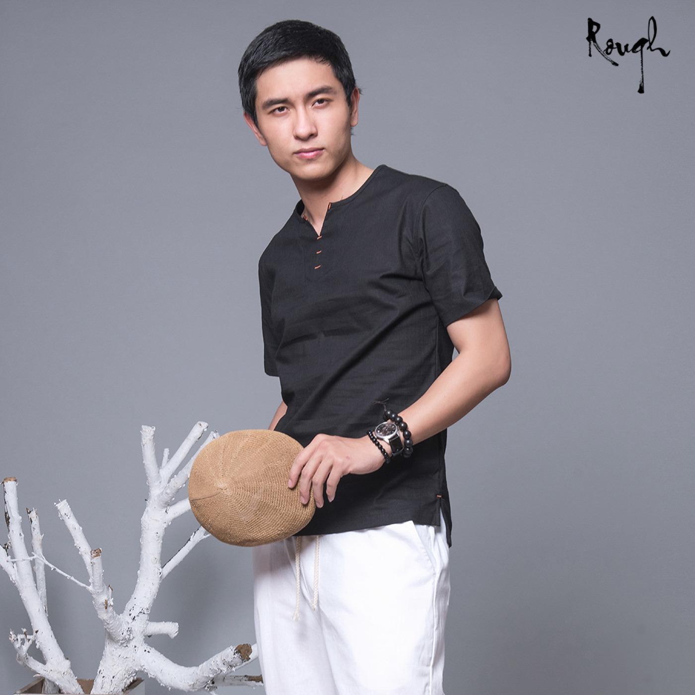 Bán Mua Ao Thun Nam Ngắn Tay Vải Đũi Xuất Dư Đen Mới Hà Nội