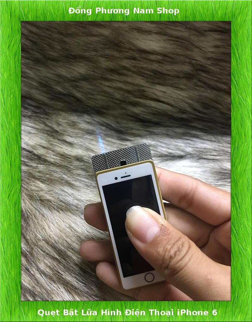 Hình ảnh Hột Quẹt, Hộp Quẹt, Quẹt Bật Lửa Hình Điện Thoại iPhone Lửa Khè Xài Gas Cực Độc