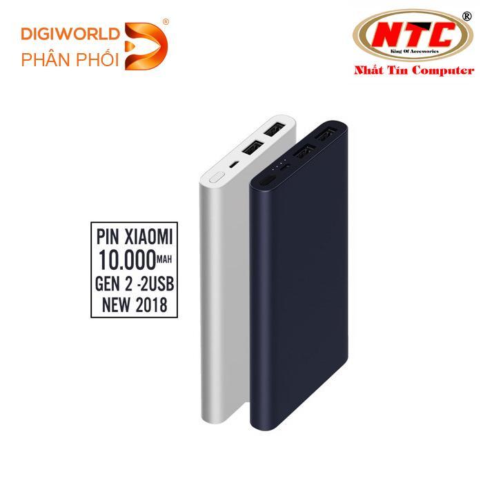 Mua Pin Sạc Dự Phong Xiaomi 10000Mah Gen 2S Hỗ Trợ Sạc Nhanh Đen Digiworld Phan Phối