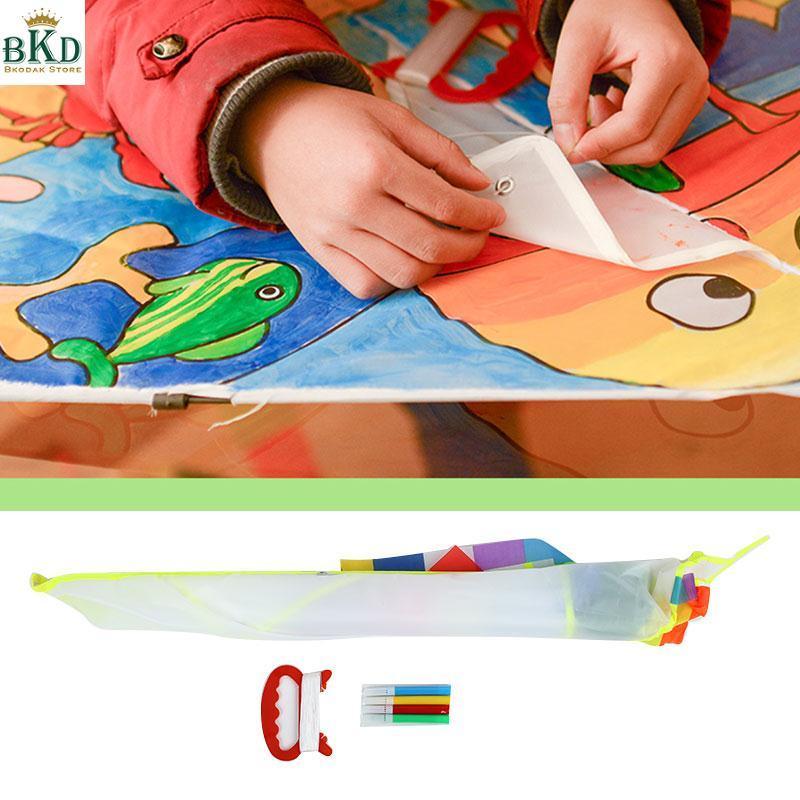 Hình ảnh Bkodak Store 1 Set Diy Kite Polyester Fabric Kite Blank Kite Creative
