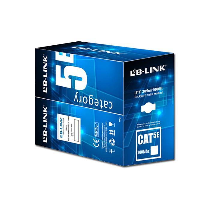 Hình ảnh Cuộn dây cáp mạng LB-LINK Cat5e UTP 305m ( màu xanh, màu cam ) giao màu ngẫu nhiên