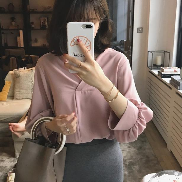 Bán Mua Ao Sơ Mi Nữ Voan Lụa Cổ V Tay Bồng Quý Co Hoan Hảo Việt Nam