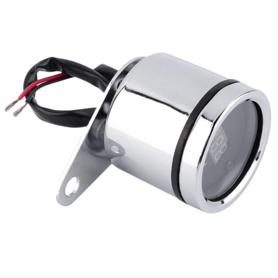 Oh 62mm Red Led Digital Volt Meter Motorcycle Battery Monitor Gii Thiu Voltmeter Gauge
