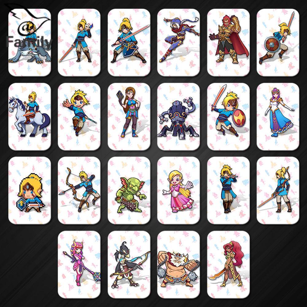 Hình ảnh Big Family:22Pcs Legend of Zelda Breath of the Wild Amiibo NFC Card Set Link SSB Deity L4 - intl