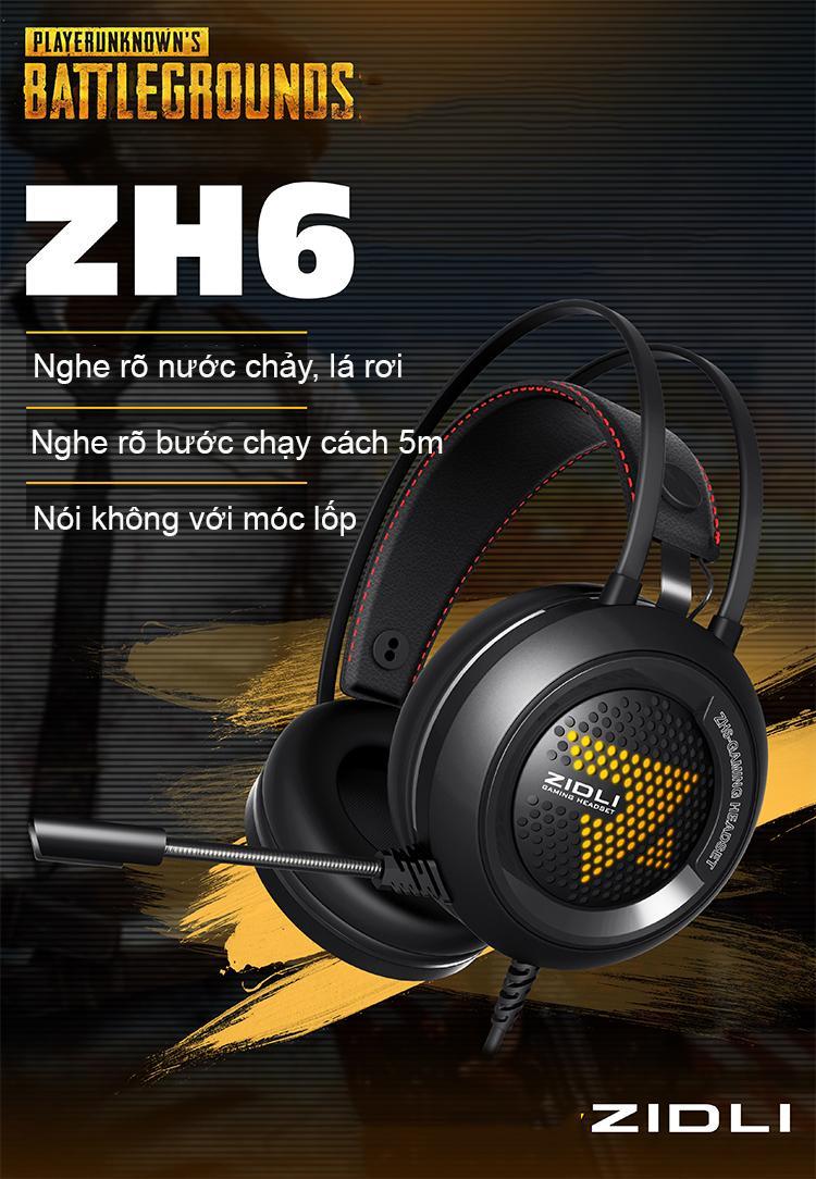 Hình ảnh Tai nghe Gaming Zidli ZH6 Sound 7.1 _Tranganhcomputer