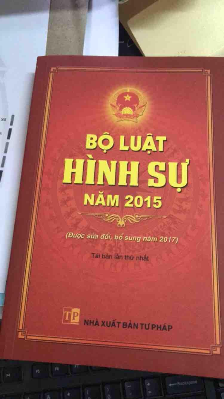 Mua Sách Bộ luật hình sự 2015
