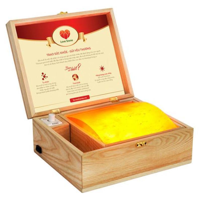 Hộp Đèn Đá Muối Mặt Cong Massage Chân Himalaya nhập khẩu