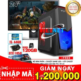Bộ máy chiến game intel i5 4460 GTX-1050 RAM 8GB 2TB + SSD 120GB + LCD 24 inch (chiến PUBG, GTA5, LOL, Fifa4, CF, Witcher 3)