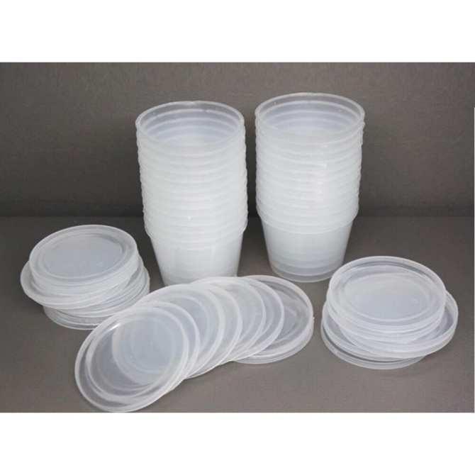 Hình ảnh Combo 10 hộp nhựa đựng Slime Size M - Nguyên Liệu Làm Slime