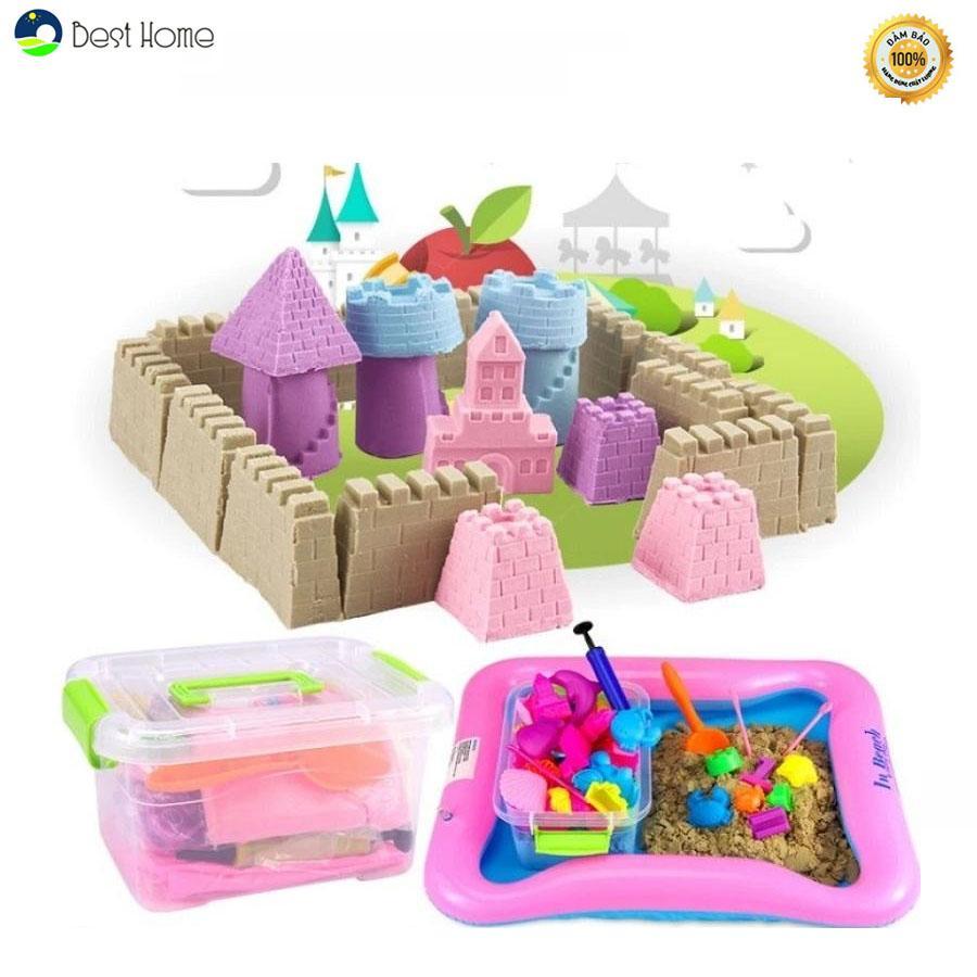 Hình ảnh Bộ đồ chơi khuôn tạo hình khối cát động lực vi sinh an toàn