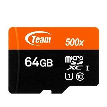 Thẻ nhớ 64gb Team up to 90mb/s MICRO SDHC/SDXC UHS U1 - Hãng phân phối chính thức