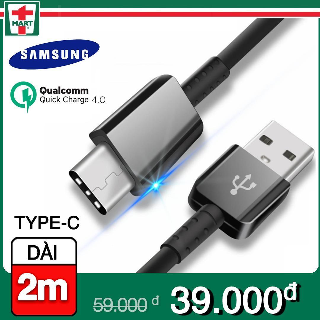 Hình ảnh [DÀI 2M] Dây sạc USB Type C hỗ trợ sạc nhanh Qualcomm Quick Charge cho Samsung Galaxy Note 8/ S8/ S8 Plus 9/ 9 Plus và các máy có cổng Type-C - Hàng Samsung Việt Nam