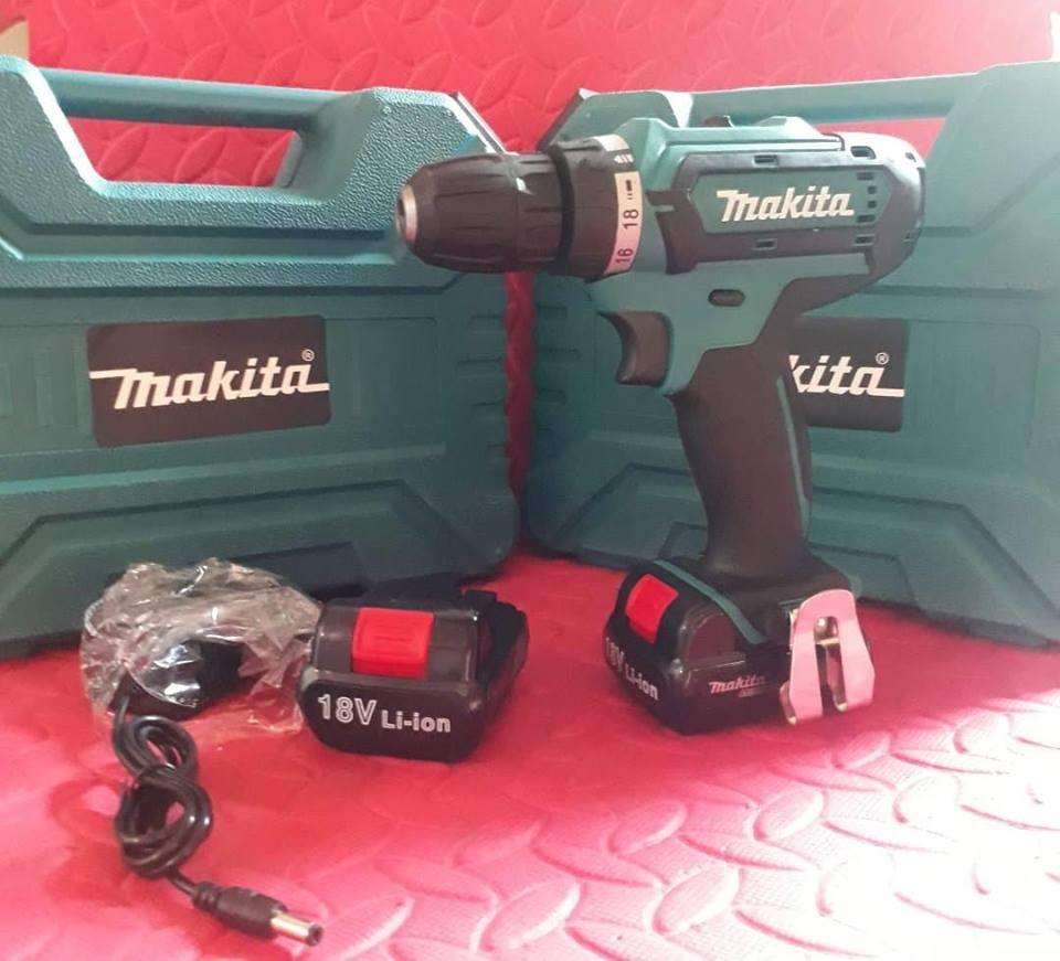 Máy khoan pin Makita 18V, chữ  MAKITA đúc nổi  (hàng nhập khẩu thái lan)