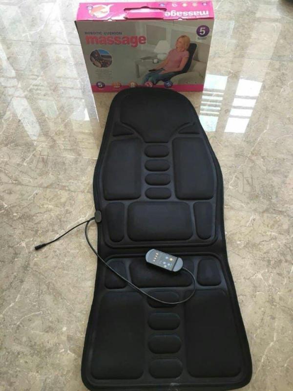 GHế massage 8Vùng Toàn THân- Giảm Mệt Mỏi,Da Cao Cấp ,Sứ Dụng TRên Ô Tô-Xe Ghế Massage Toàn Thân Nhiệt Thảm Miếng, Cổ ,Đau THắt Lưng. Miếng Lót Lưng NHập Khẩu