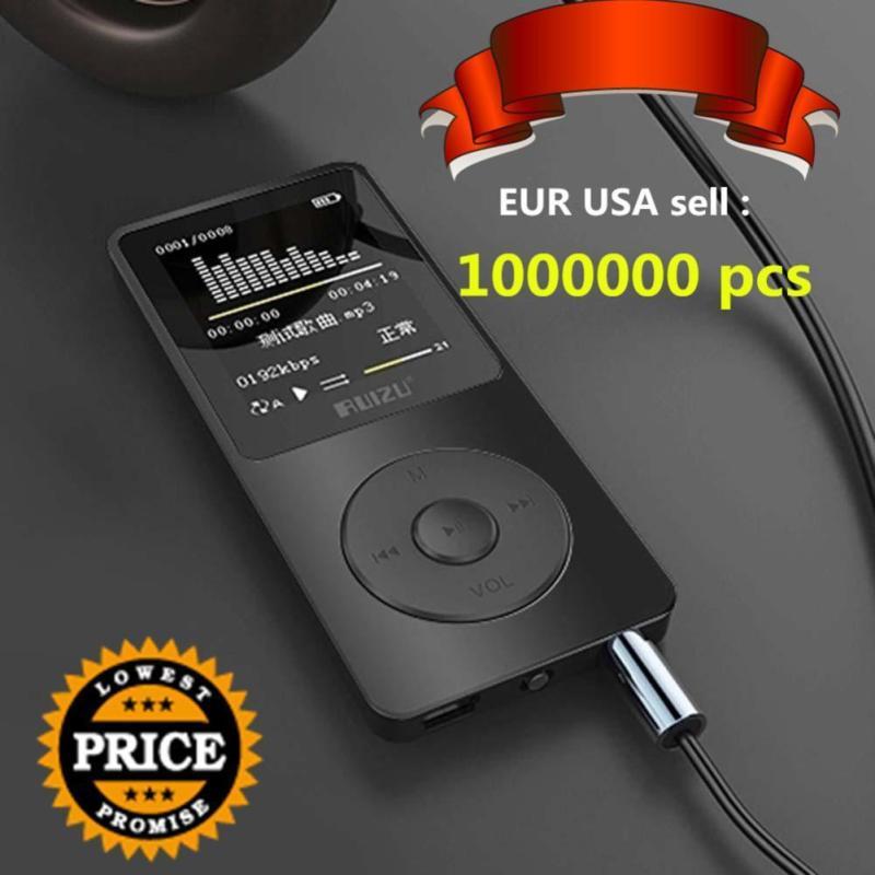 Màn Hình TFT 1.8 Đen RuiZu X02 HiFi 4 gam MP3 MP4 Nghe Nhạc FM Đầu Ghi-quốc tế