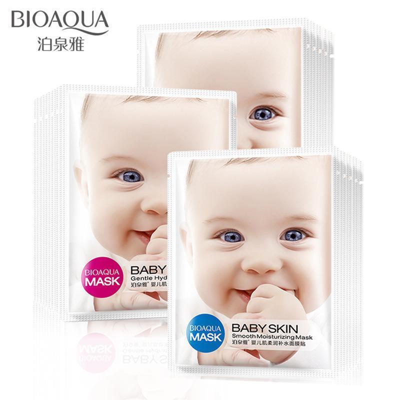 Bộ 10 mặt nạ dưỡng trắng da baby skin Bioaqua - Nhập khẩu loại 1