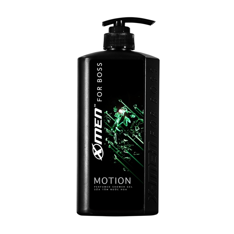 Combo Nước hoa X-Men for Boss Motion 49ml + Dầu gội nước hoa X-Men for Boss Motion 650g + Xịt khử mùi X-Men for Boss Motion 150ml