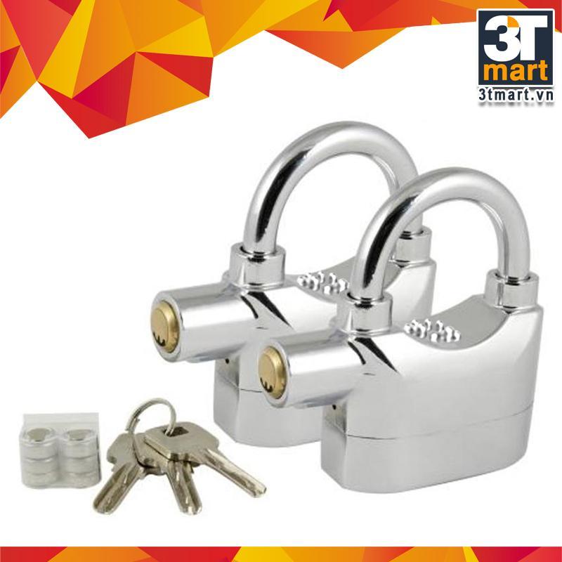 Bộ 2 khóa chống trộm thông minh Kinbar (Bạc)