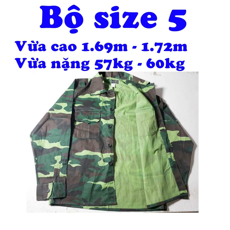 Bộ quần áo bộ đội dàn di số 5; quần áo bảo hộ lao động