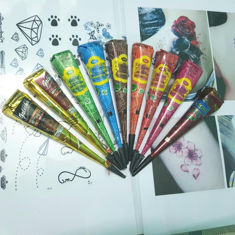 1 Hộp mực vẽ Henna màu sắc tùy chọn nhập khẩu