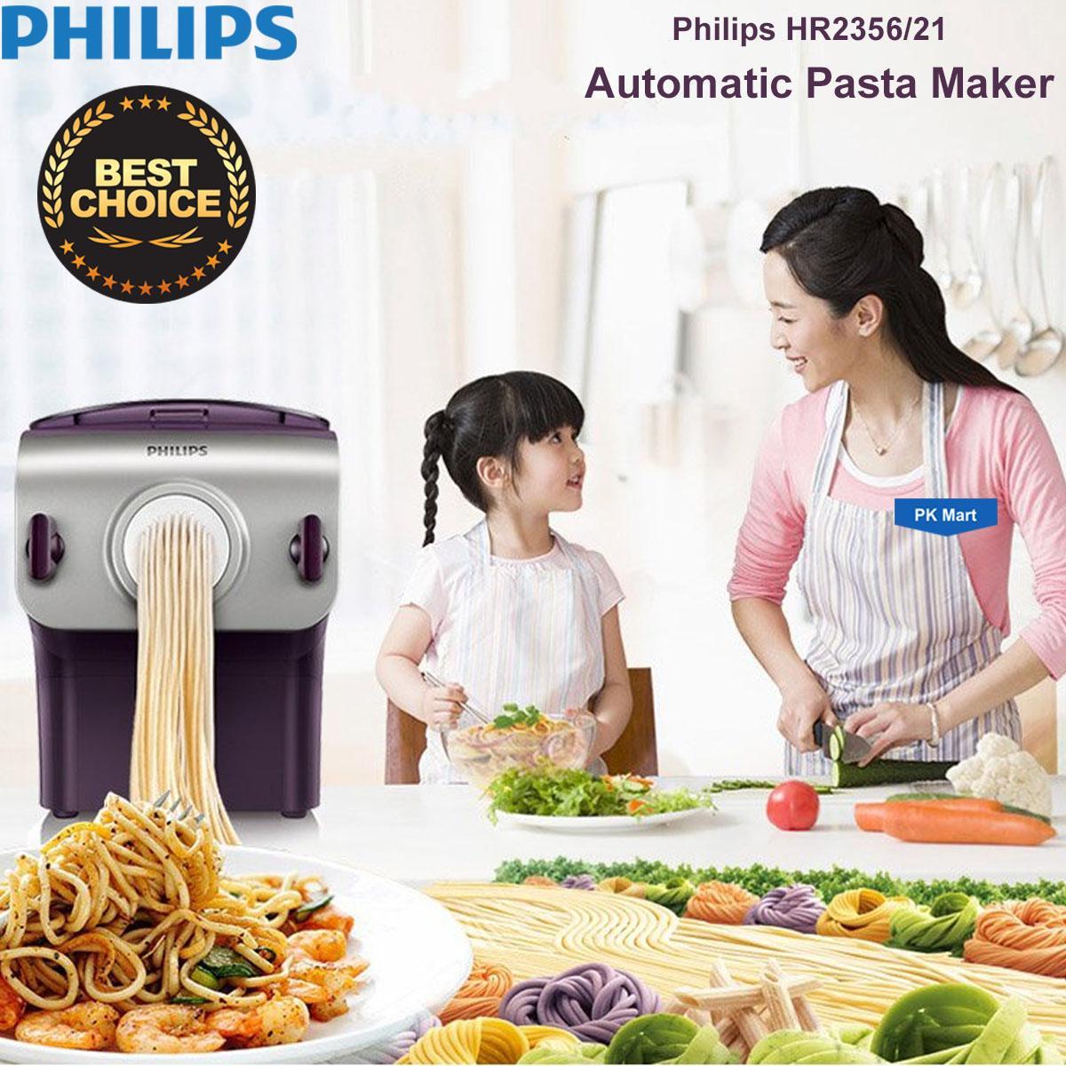 Hình ảnh Máy làm mì sợi Philips HR2356 (Tím phối xám) - Hàng nhập khẩu