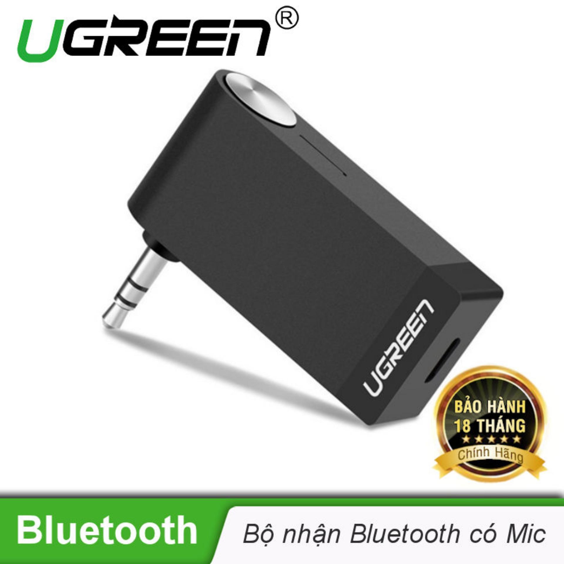 Bán Thiết Bị Nhận Am Thanh Bluetooth Music Co Hỗ Trợ Mic Cho Loa O To Ugreen 30348 Hang Phan Phối Chinh Thức Nguyên