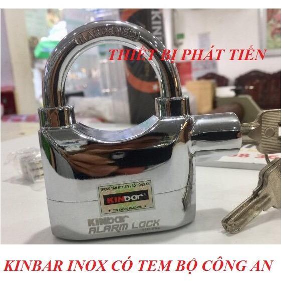 Ổ Khóa Chống Trộm KinBar Bạc 100% Inox (Có Tem)