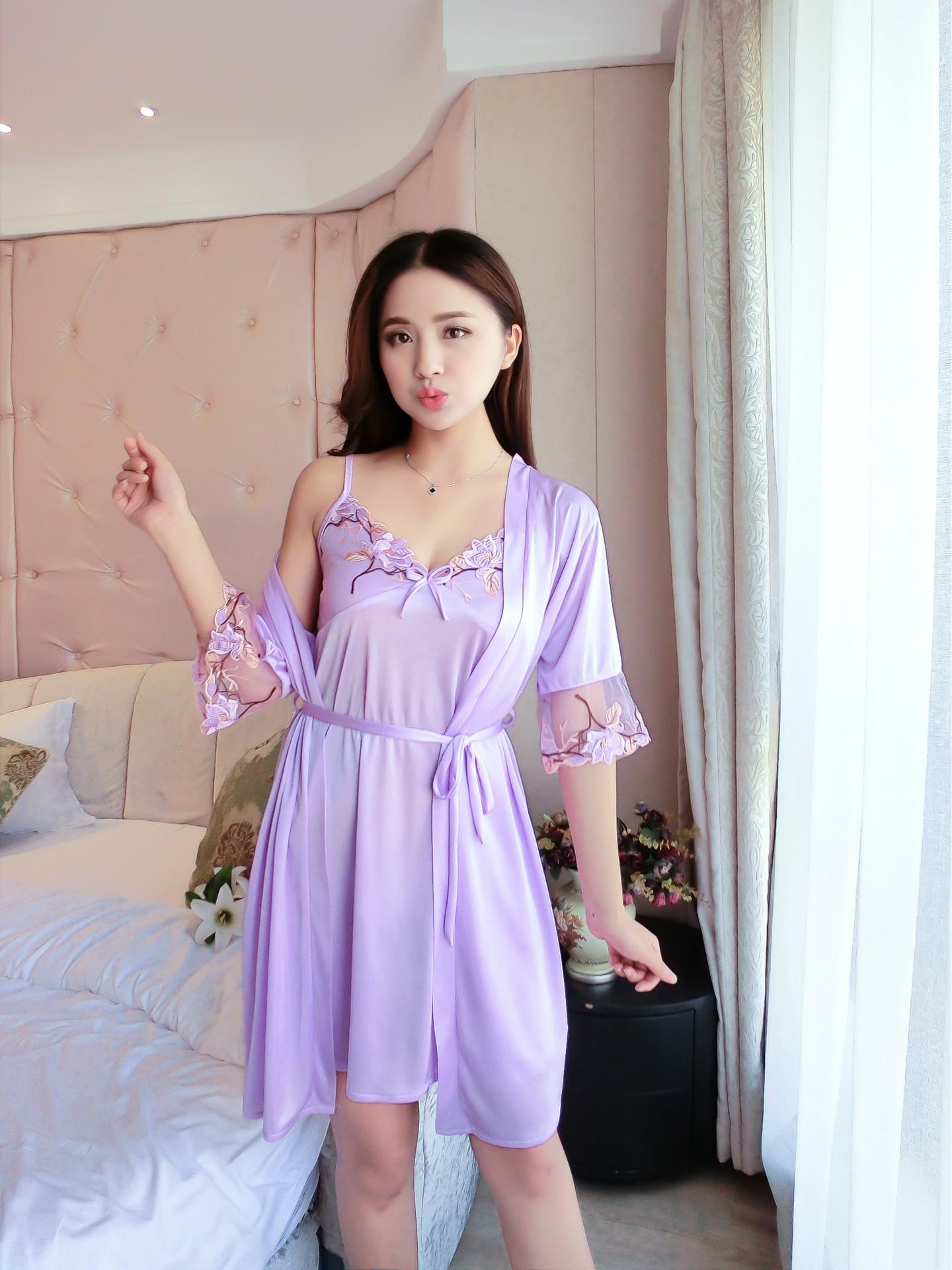 Cửa Hàng Đầm Vay Ngủ Phi Lụa Mat Lạnh Theu Hoa Ngực Kem Ao Choang Ren Tay Sang Chảnh Iw Sx332 Hà Nội