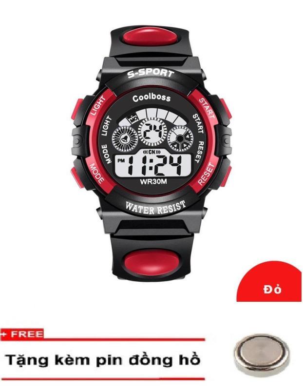 Nơi bán Đồng hồ trẻ em GOLDTIME Coolboss 0119 Đỏ + Km 1 pin đồng hồ