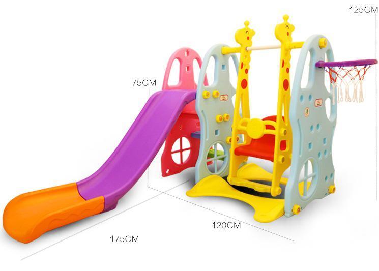 Hình ảnh Cầu Trượt Trẻ em 5 Trong 1 cao cấp T380 (Bán chạy 2018)