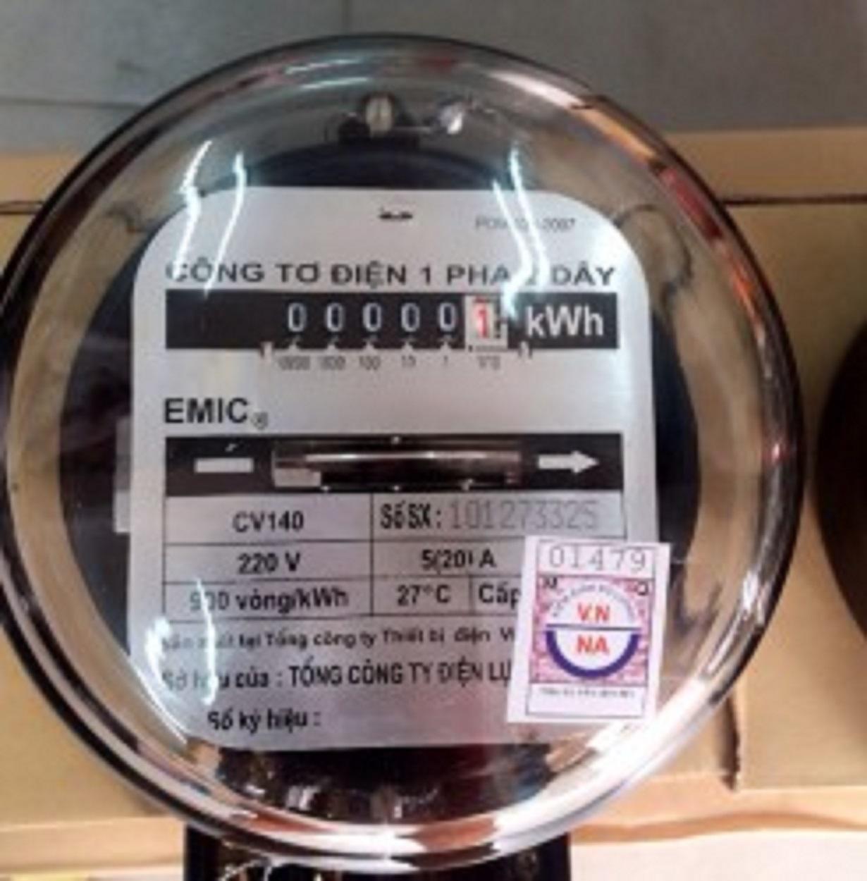 công tơ điện 1 pha 2 dây  5/20A