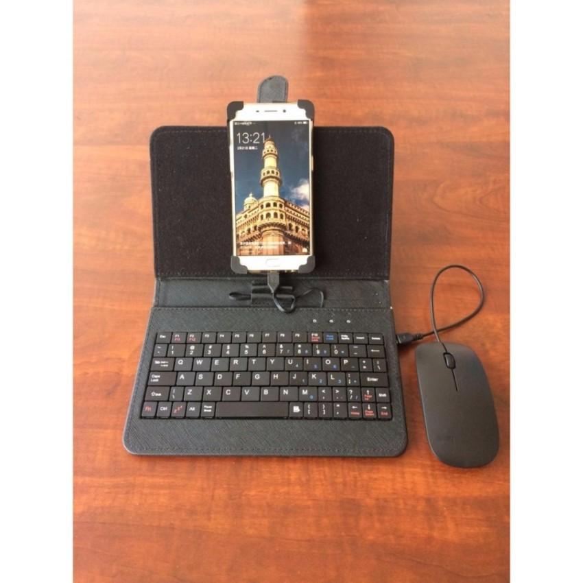 Hình ảnh Bàn Phím Bluetooth Mini, Bàn Phím Điện Thoại Samsung Đắt Hơn Sản Phẩm Này , Bàn Phím Bao Da Có Chuột Hỗ Trợ Các Dòng Điện Thoại, Máy Tính Bảng Hệ Điều Hành Android, Hàng Chất Lượng Cao, Bảo Hành Uy Tín