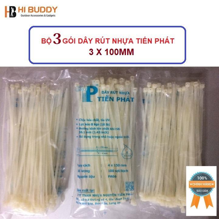 Hình ảnh Bộ 3 gói dây rút nhựa Tiến Phát 3 x 100mm