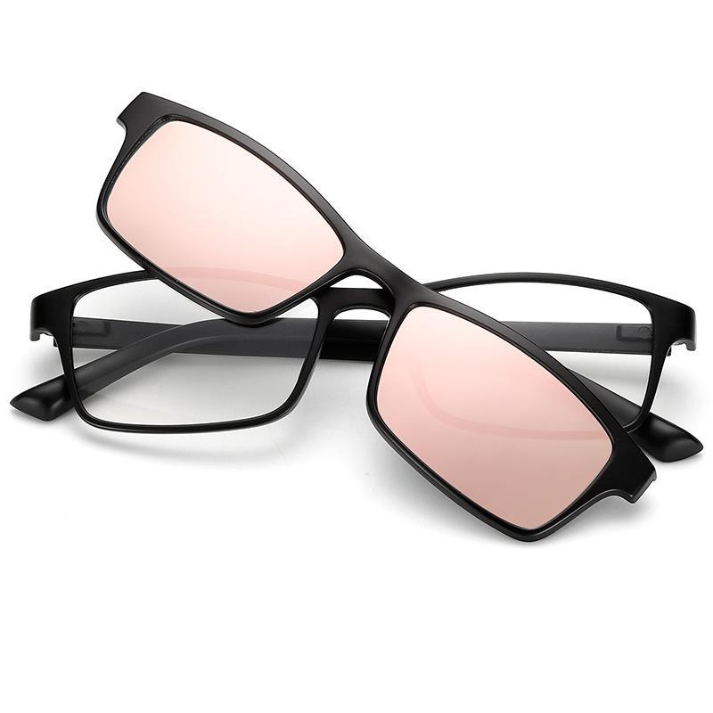 Retro pria dan wanita model cermin lensa magnetik terpolarisasi kacamata TR90 baru dapat dilengkapi dengan bingkai