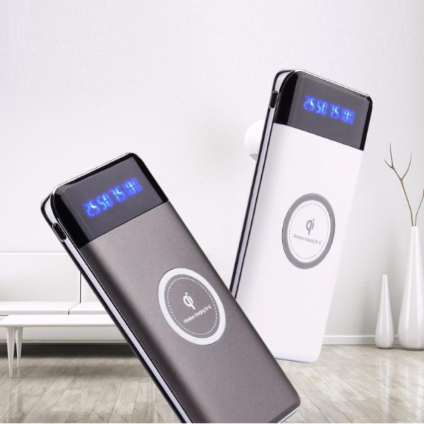 Hình ảnh Sạc không dây siêu mỏng - siêu đẹp - thông minh - chuẩn Qi - kiêm pin dự phòng 10000 mAh cho Iphone 8, iphone X,Samsung Galaxy S9, Note8