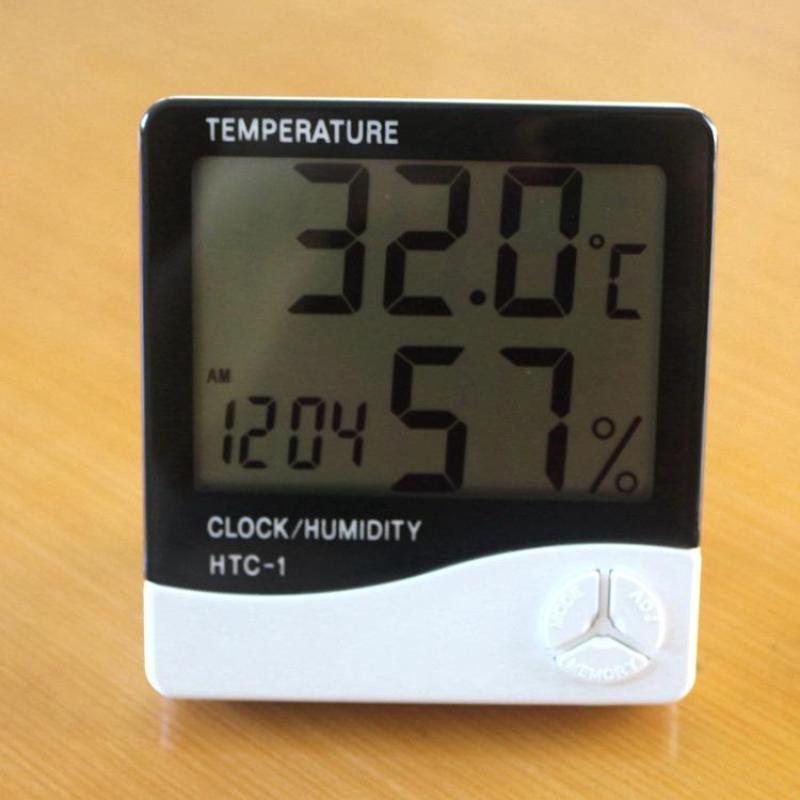 Đồng hồ đo nhiệt độ ẩm độ và đồng hồ điện tử để bàn HTC-1 bán chạy