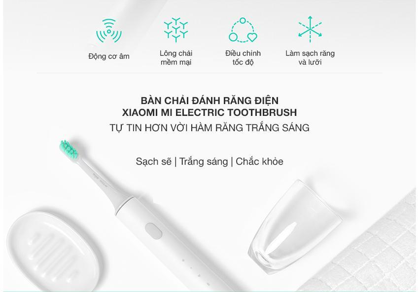 Bàn chải đánh răng điện Xiaomi (Trắng)