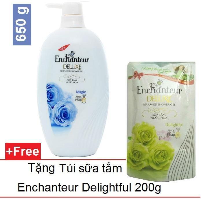 Hình ảnh Enchanteur - Sữa tắm hương nước hoa 650 g - Magic + Tặng túi sữa tắm 200 g - Delightful