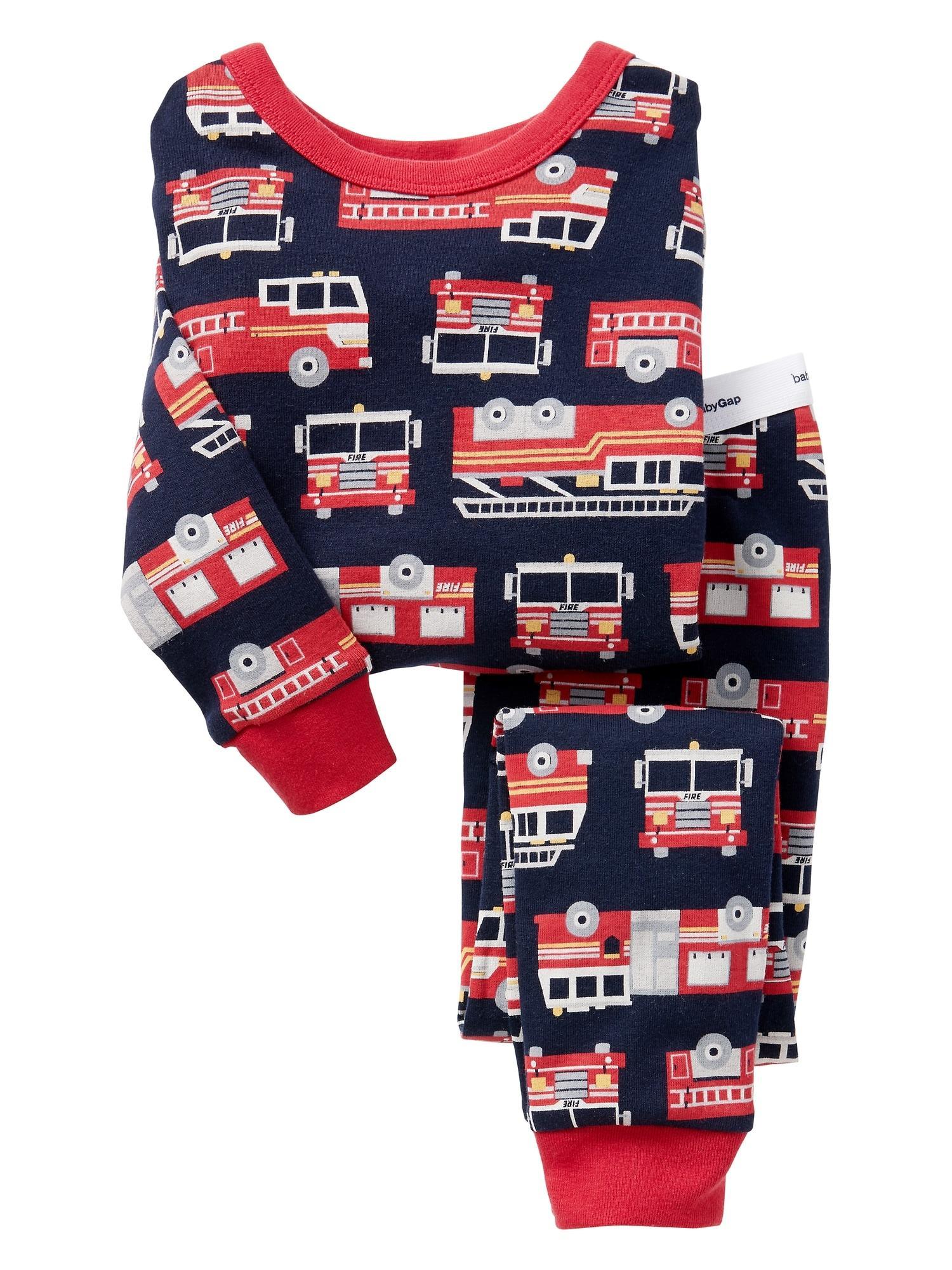 Hình ảnh Bộ bé trai babyGAP hàng xịn chất cực đẹp mẫu xe cứu hỏa