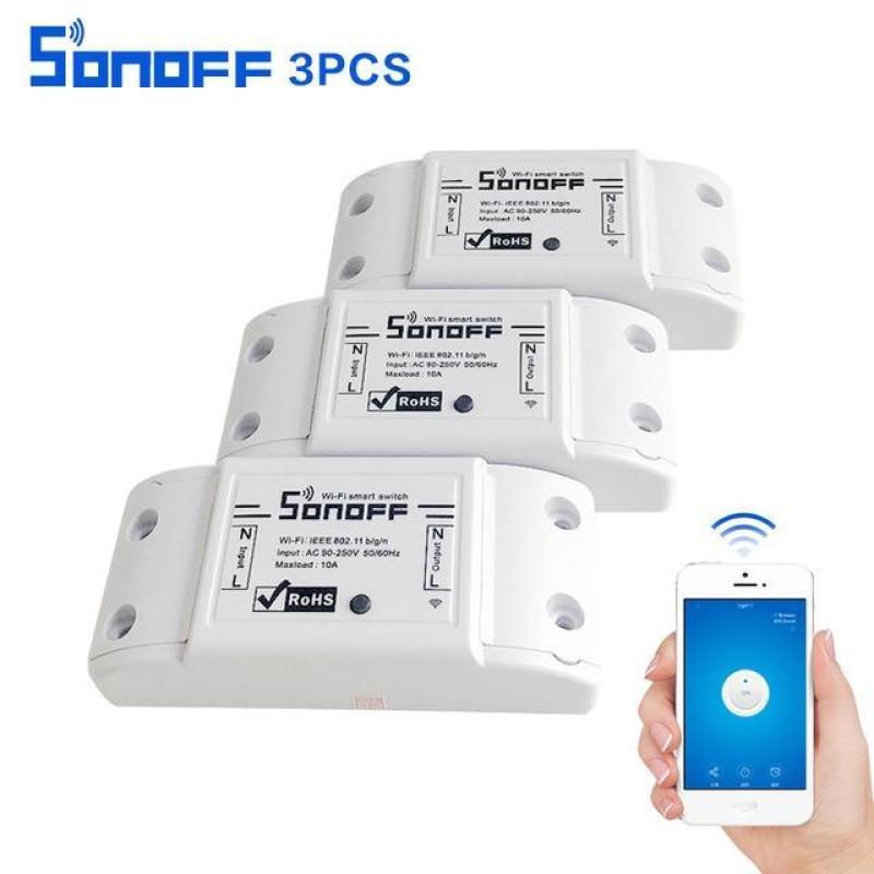 Bộ 3 Công Tắc Điều Khiển Từ Xa Sonoff Kết Nối Wifi_Hàng Có Sẵn