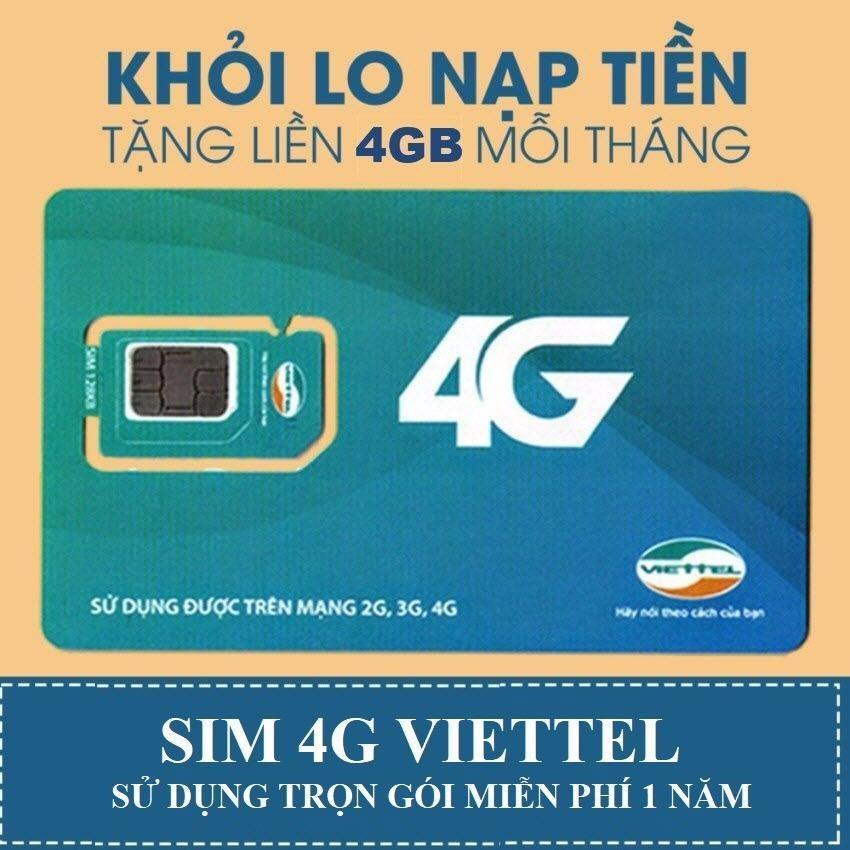 Bán Miễn Phi Sử Dụng 1 Năm Sim 4G Viettel 4Gb Thang D500 Trọn Goi 1 Năm Rẻ Trong Việt Nam