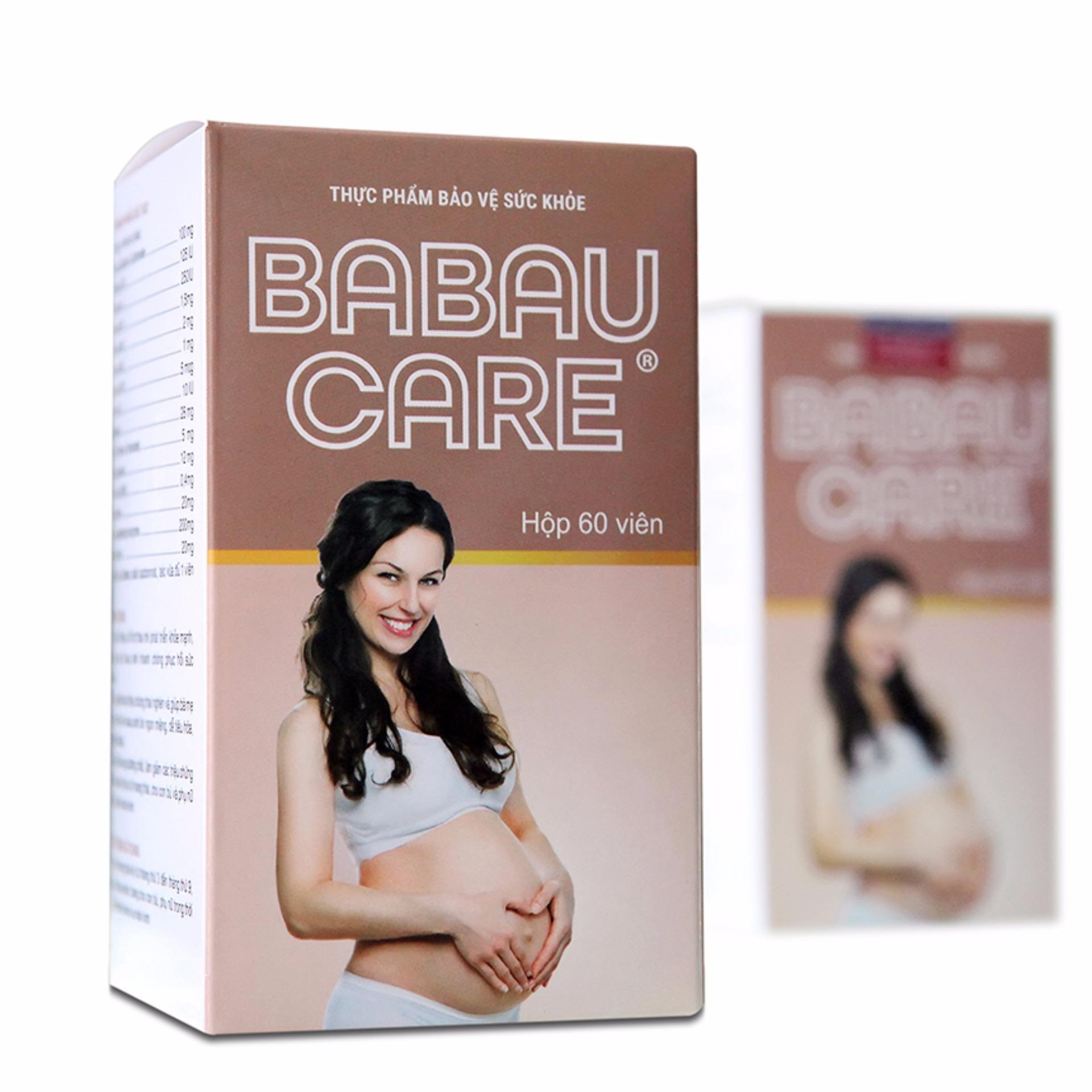 Viên giảm ốm nghén, bổ sung dinh dưỡng cho bà bầu – Babau care (lọ 60 viên)