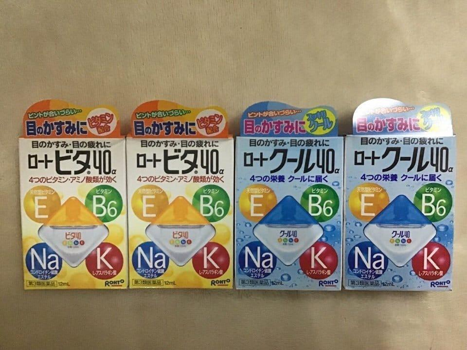Dung dịch nhỏ mắt Rohto bổ xung vitamin E B6  chai 12ml của Nhật