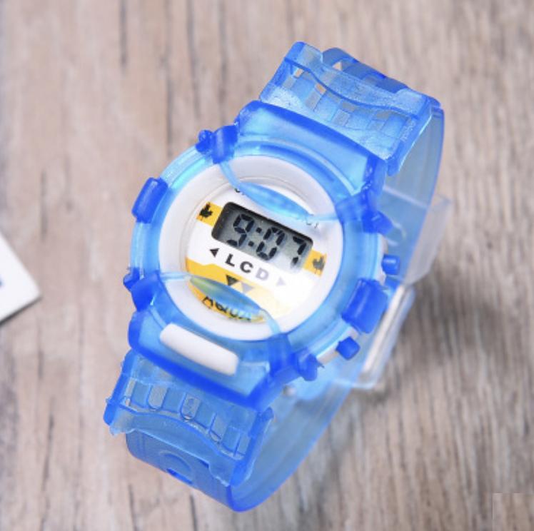 Hình ảnh Đồng hồ Led cho bé dây Silicon shop thích trẻ nhỏ nên bán giá tốt nhất xem như 1 món quà gửi đến các bé (Xanh)