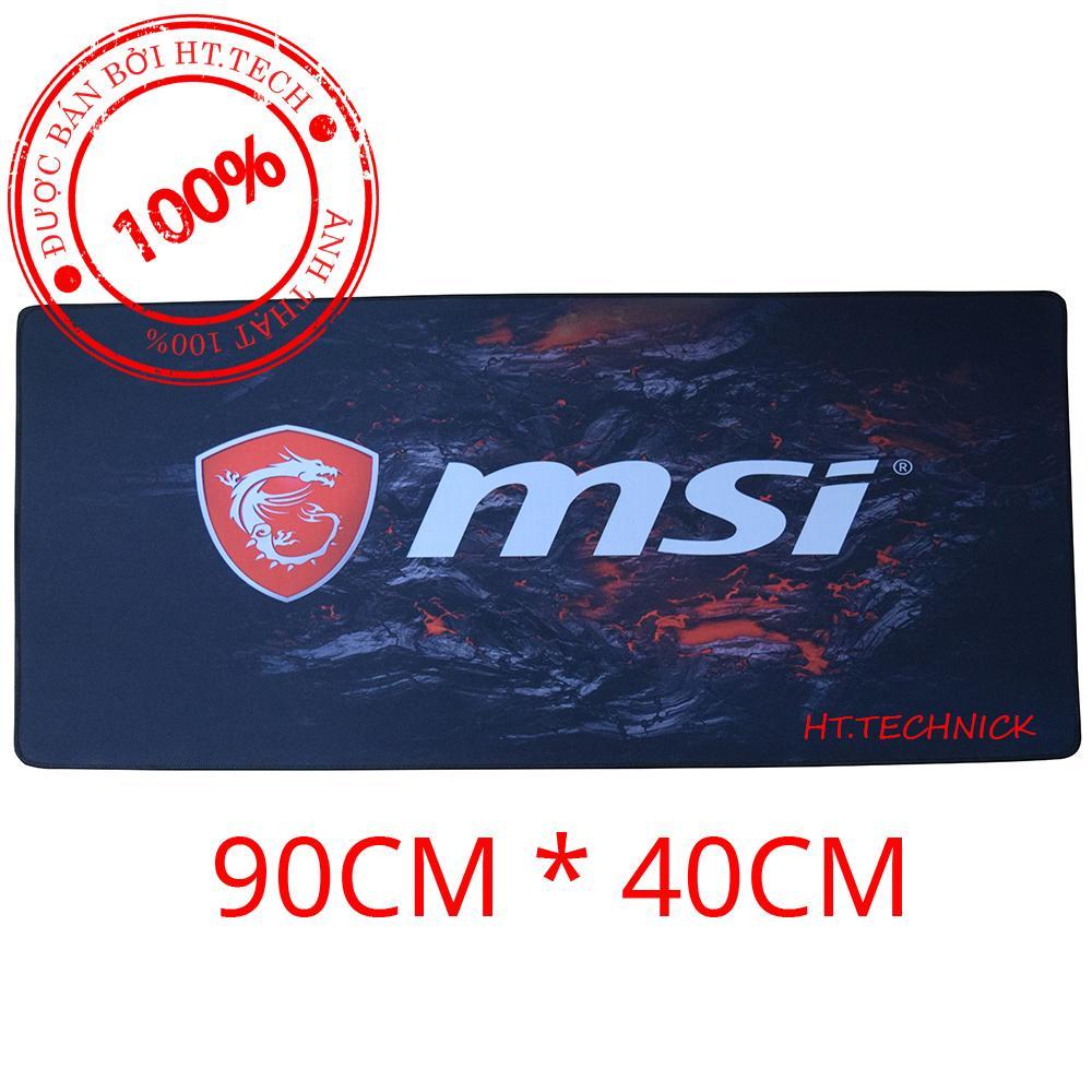 Hình ảnh HT.TECHNIK - Bàn di chuột MSI (pad MSI) khổ lớn 90cm x 40cm (ảnh thật 100%)