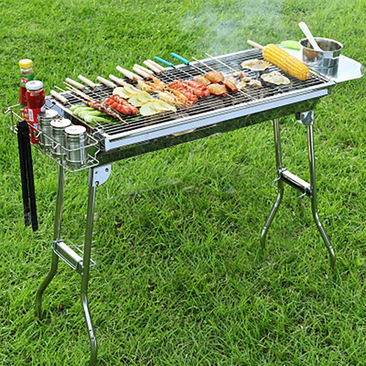 Bếp nướng than hoa gấp gọn ngoài trời cao cấp  BBQ L5-129H