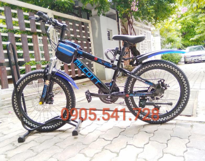 Xe đạp địa hình Alcott 208 dành cho trẻ em cấp 1 màu xanh dương